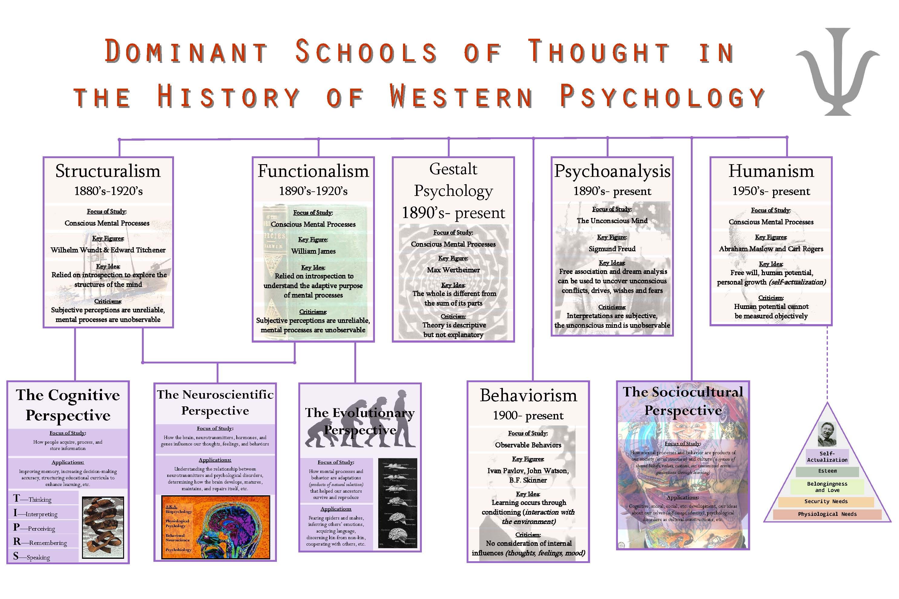 what are the major current schools of thought in psychology